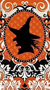 Cypress Home Spooky Witch Silhouette Paper Guest Towel, 15 count