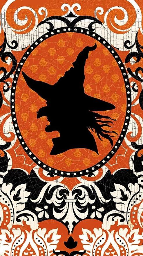 Cypress casa de silueta de bruja Spooky toalla de papel para invitados, 15 Count