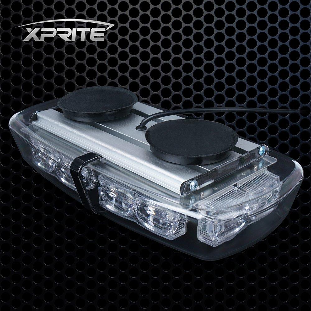 Xprite Gen 3 Green 36 LED 18 Watts Roof Top Hign Intensity Law Enforcement Emergency Hazard Warning LED Mini Bar Strobe Light with Magnetic Base