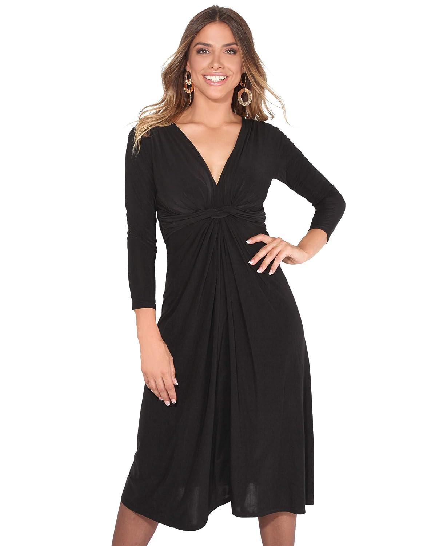 TALLA 40. KRISP Chaqueta Mujer Fiesta Punto Encaje Blazer Elegante Cardigan Negro (2705) 40