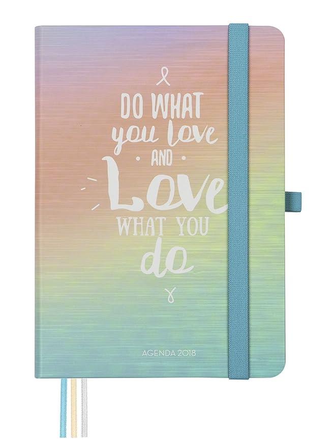 Finocam Design - Agenda 2018, semana vista apaisada, español, diseño And Love, 120 x 170 mm, 80 g/m²