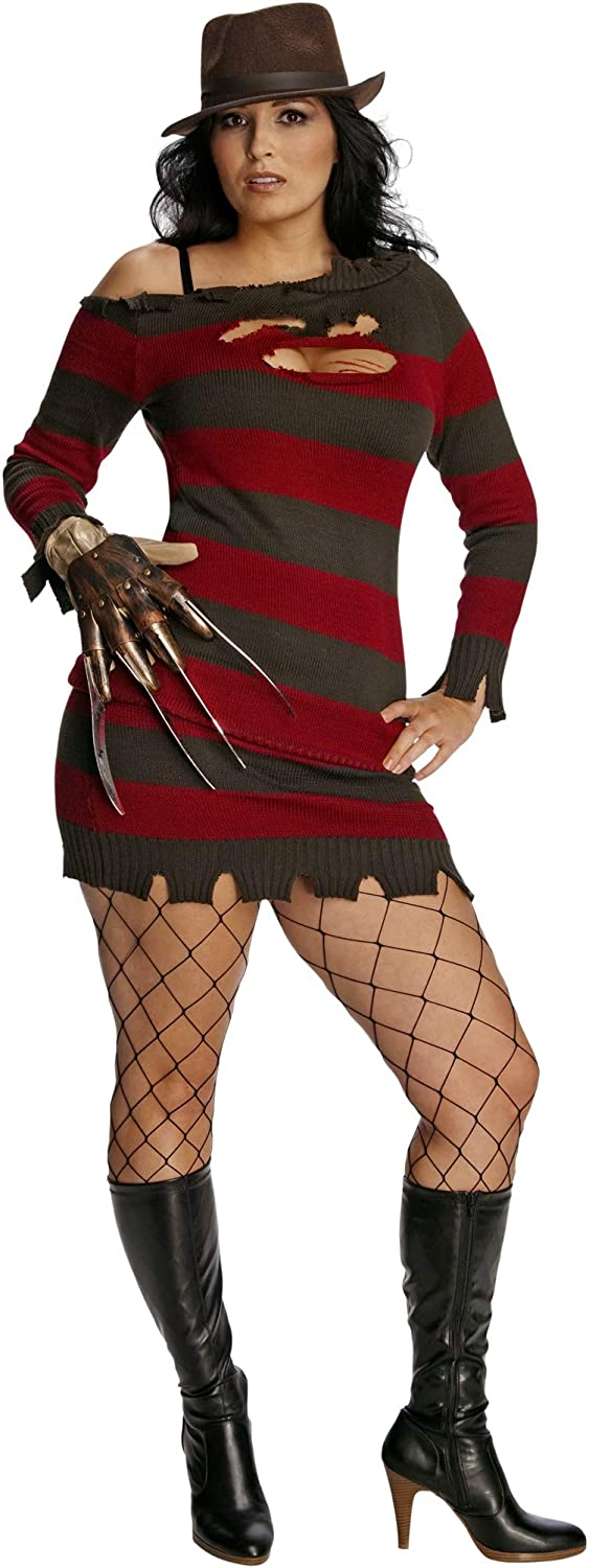 Secret Wishes Nightmare On Elm Street Miss Krueger Costume, Brown/Red, One Size: Clothing