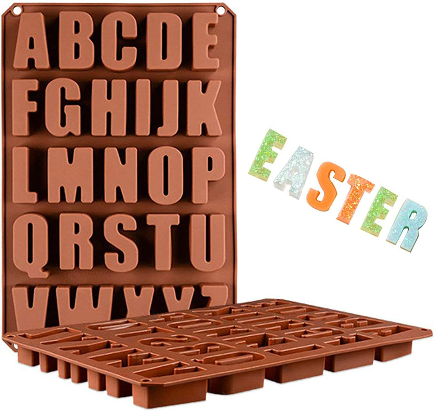 Alphabet Letter Number Silicone Chocolate Cake Baking Mold Mould Decor DIY Craft