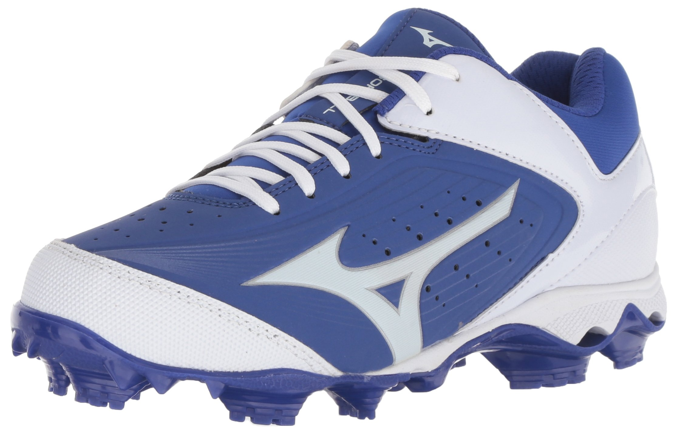 Mizuno Women's 9-Spike Advanced Finch Elite 3 Fastpitch Cleat Softball Shoe, Royal/White, 10 B US by Mizuno