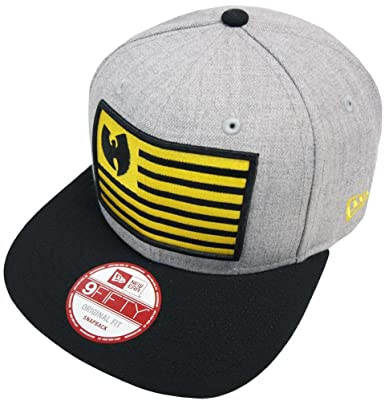 6b2a8cb846649 New Era Wu-Tang Flag Grey Snapback Cap 9fifty Basecap Wu Tang Clan One Size  New  Amazon.co.uk  Clothing