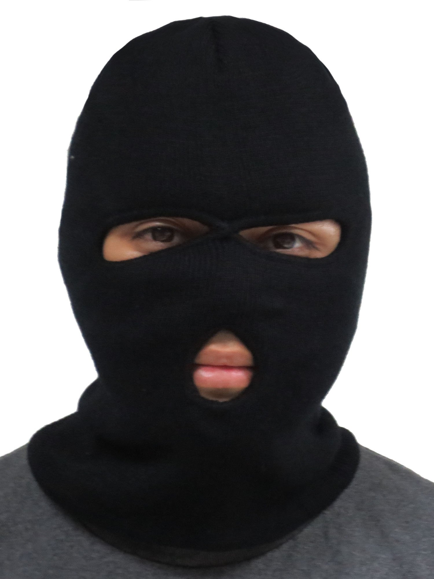 e2f8c86d516 Galleon - Outdoor Sports Lightweight Ski Mask Eye Hole Motorcycle Balaclava  Black 3 Hole