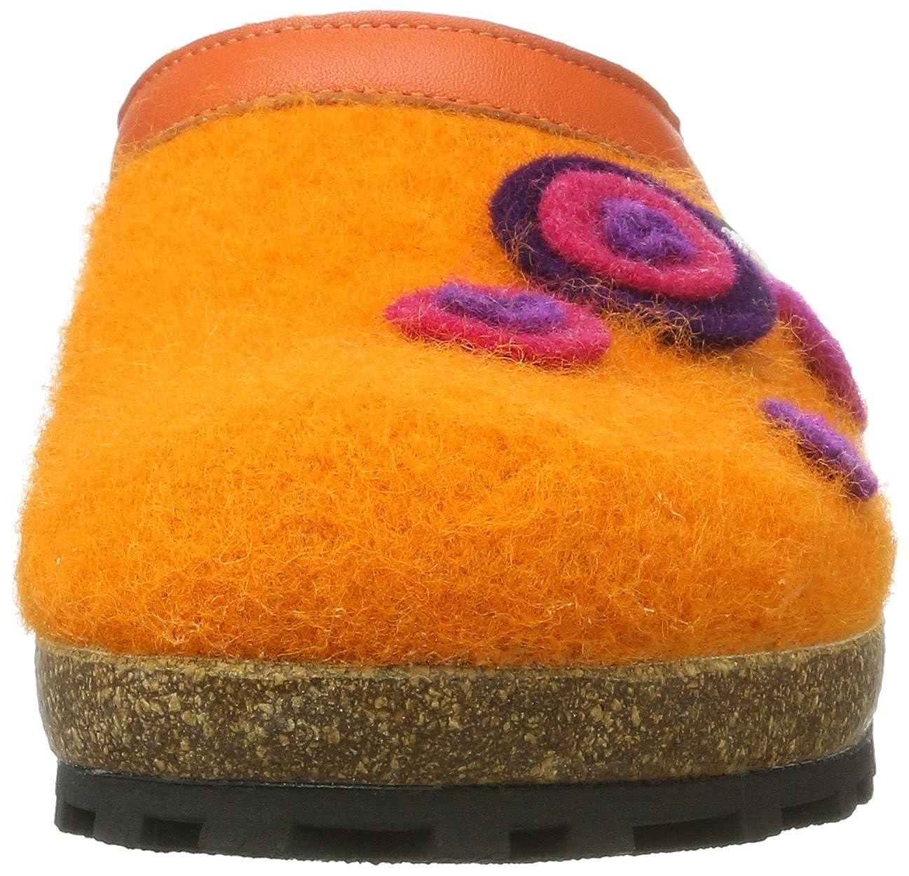 Giesswein Unisex-Erwachsene Calau Pantoffeln, Orange (Mandarine), 42 EU