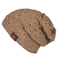 EINSKEY Slouchy Beanie Hat, 2 Pack Winter Thin Jersey Warm Lined Skull Cap Summer Hat