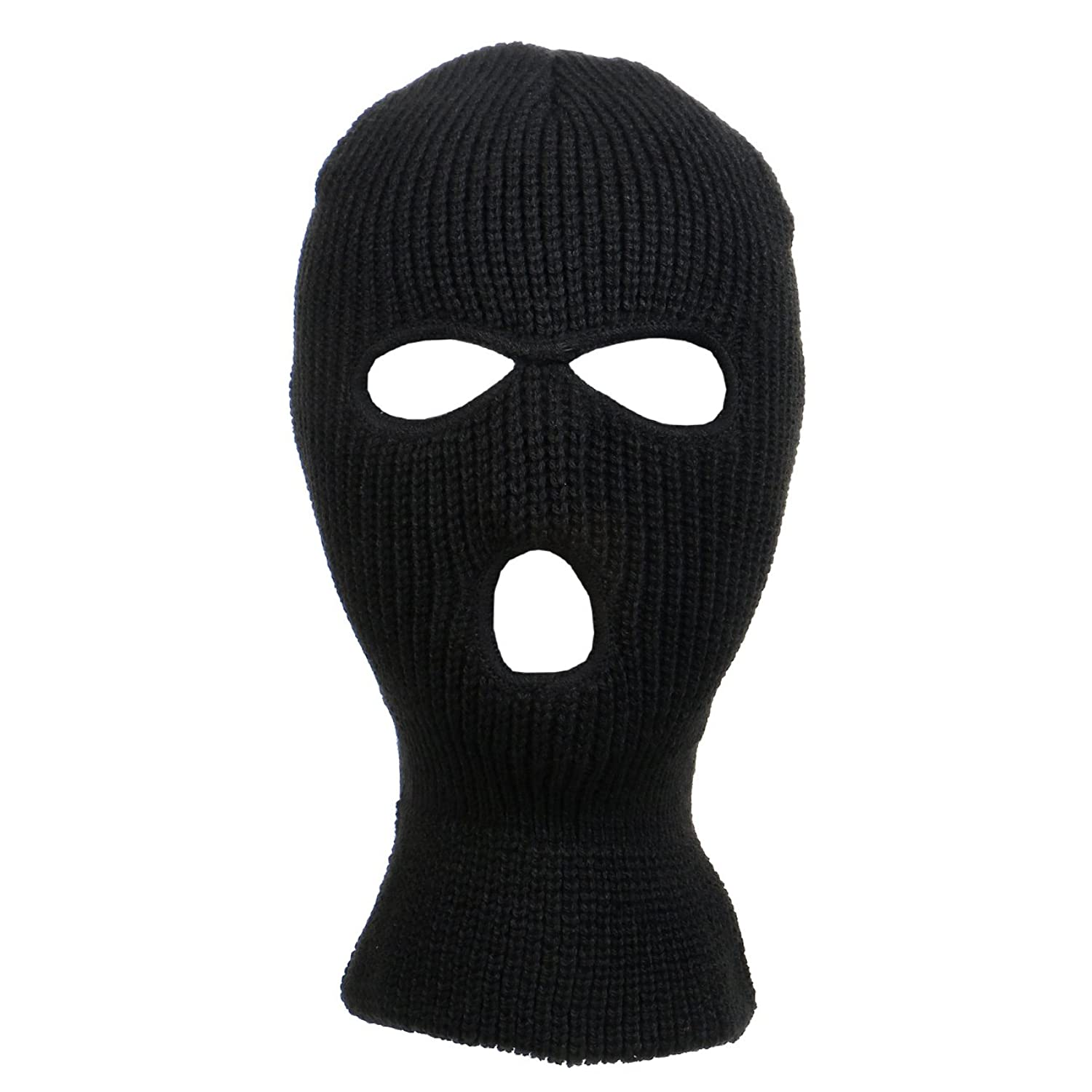 Amazon.com: Knitted 3-Hole Full Face Cover Ski Mask: Clothing