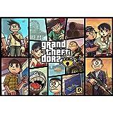Doraemon Japanese Manga Grand Theft Auto Gta  Edible Cake Topper Frosting   Sheet