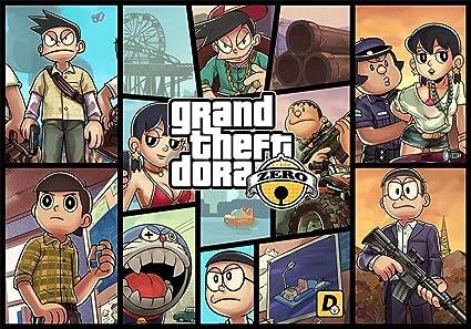 Doraemon Japanese Cartoon Manga GTA Grand Theft Auto Gta5 Edible Image Photo Birthday Party Event 1