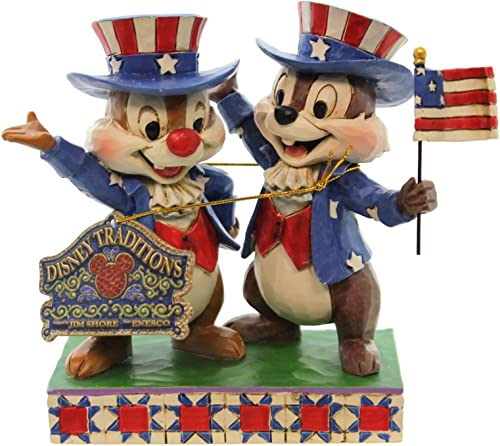 Jim Shore Disney Hooray for the USA Chip and Dale 4th of July Figurine 4045236