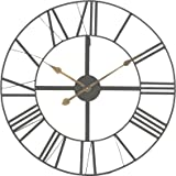 """Large Skeleton Frame Wall Clock With Roman Numerals 24"""" Diameter"""