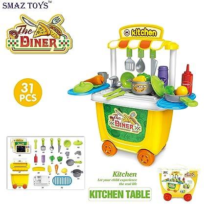 Amazon.com: SMAZ TOYS Kids Kitchen Playsets Toddler Pretend ...