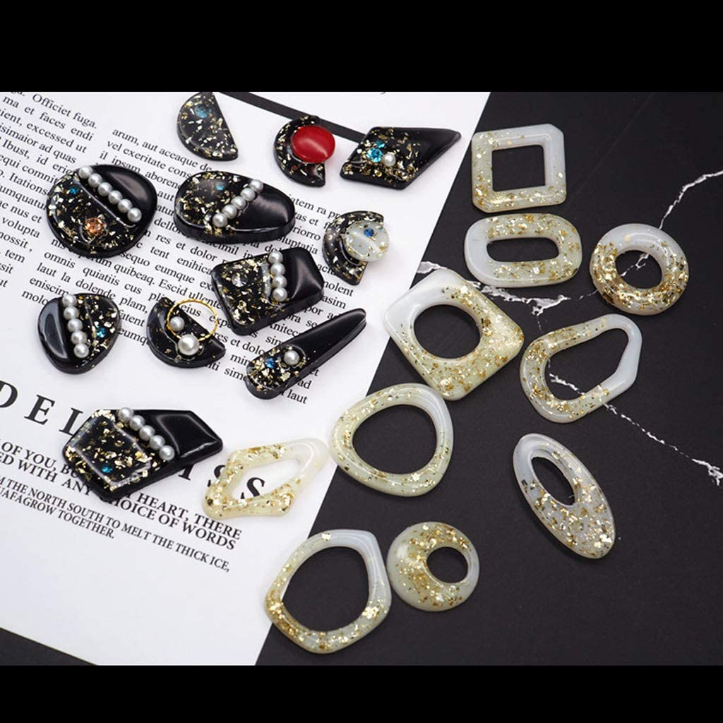 HavanaYZ 7 Harzgussformen geometrische Ohrringe Anh/änger Harz Silikonform DIY Silikonharz Basteln Schmuck Anh/änger Schmuck Gussformen 2