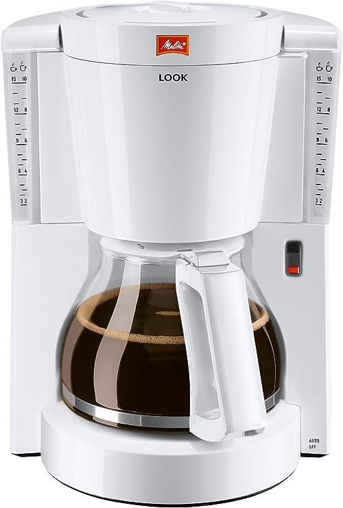 Melitta Look 1011-01 - Cafetera de filtro, Aromaselector, Auto-Off, blanca: Amazon.es: Hogar