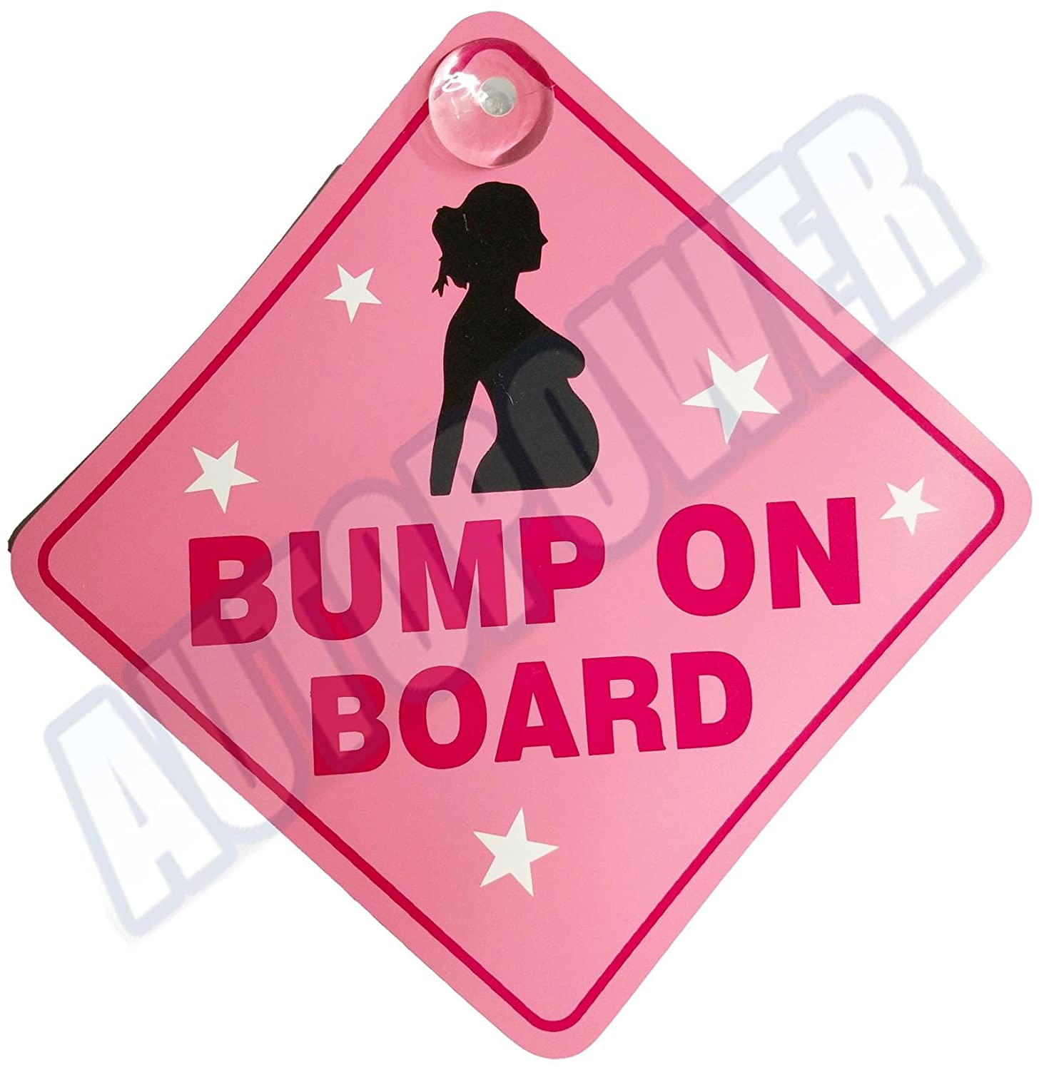 Bump On Board Suction Cup Safety Fun Car Display Window Badge Sign AutoPower