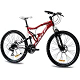 "26"" KCP MOUNTAIN BIKE BICYCLE ATTACK 21 speed SHIMANO UNISEX red - (26 inch)"