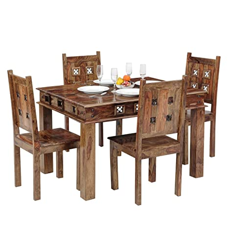 aa9e8d57e33 Ringabell Altavista Jelly 4 Seater Dining Table (Teak Finish)  Amazon.in   Electronics