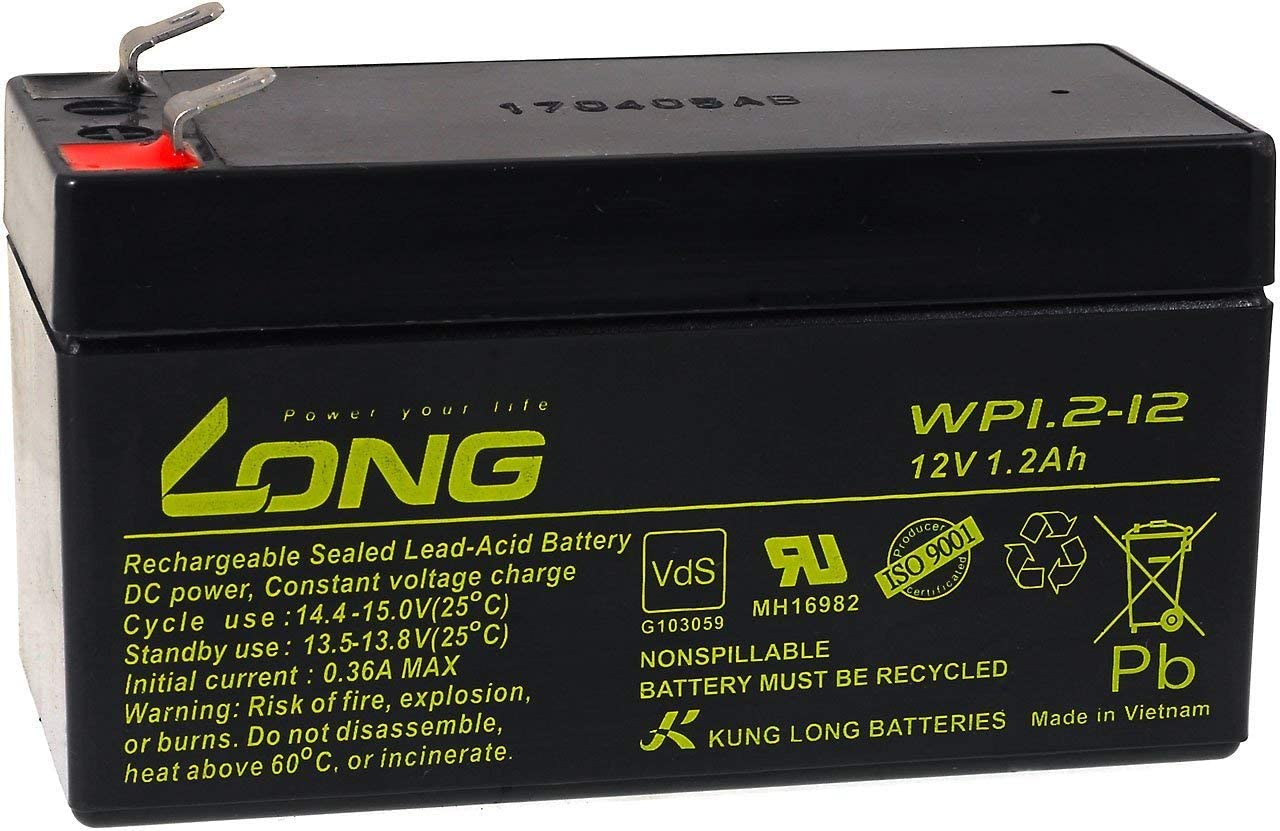 Powery Kung Long Batería Plomo WP1.2-12 VDS