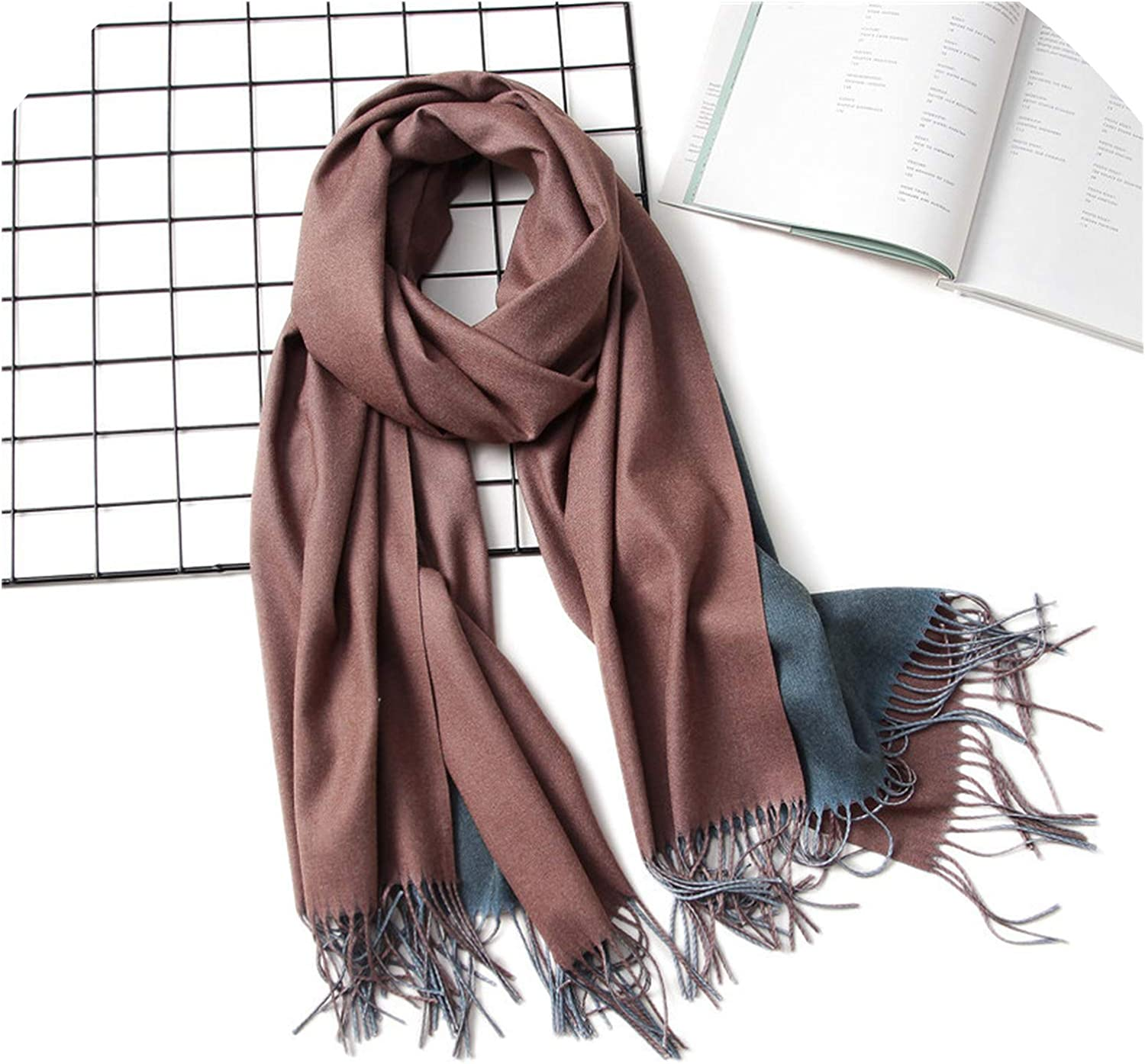 2019 Winter Women Scarf Fashion Solid Soft Cashmere Scarves for Lady Pashmina Shawls Wrap,c16
