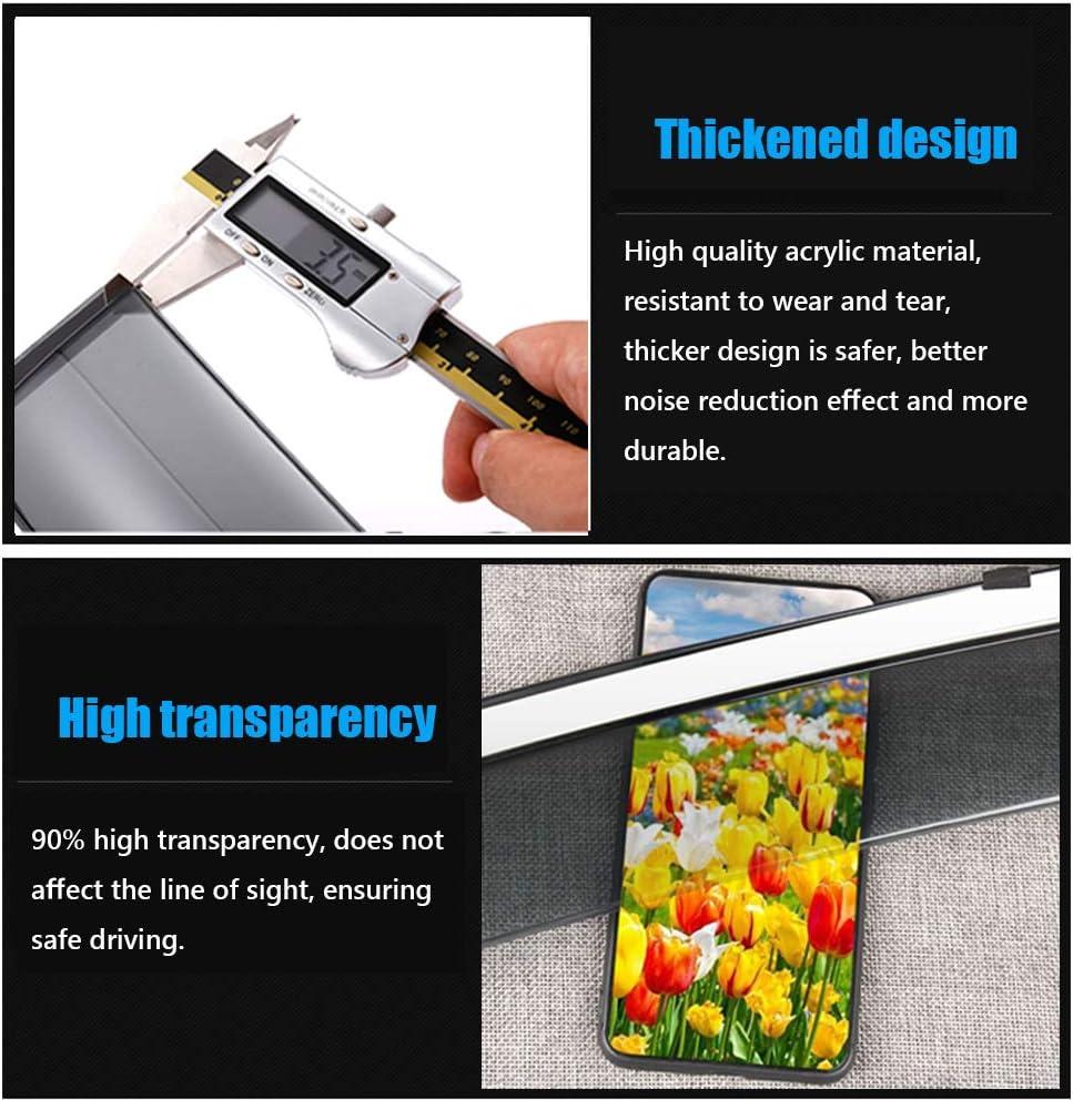 Great-luck High quality Sun Visor Side Windows Smoke Tint Wind Deflector Vent Deflector Rain Guard 4 Pcs//Set for Buick Encore 2013-2019
