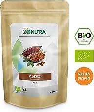 BioNutra Kakao-Pulver Bio 1000 g, Kakaopulver gemahlen aus Criollo Bohnen, Herstellung EU, kontrolliert biologischer Anbau