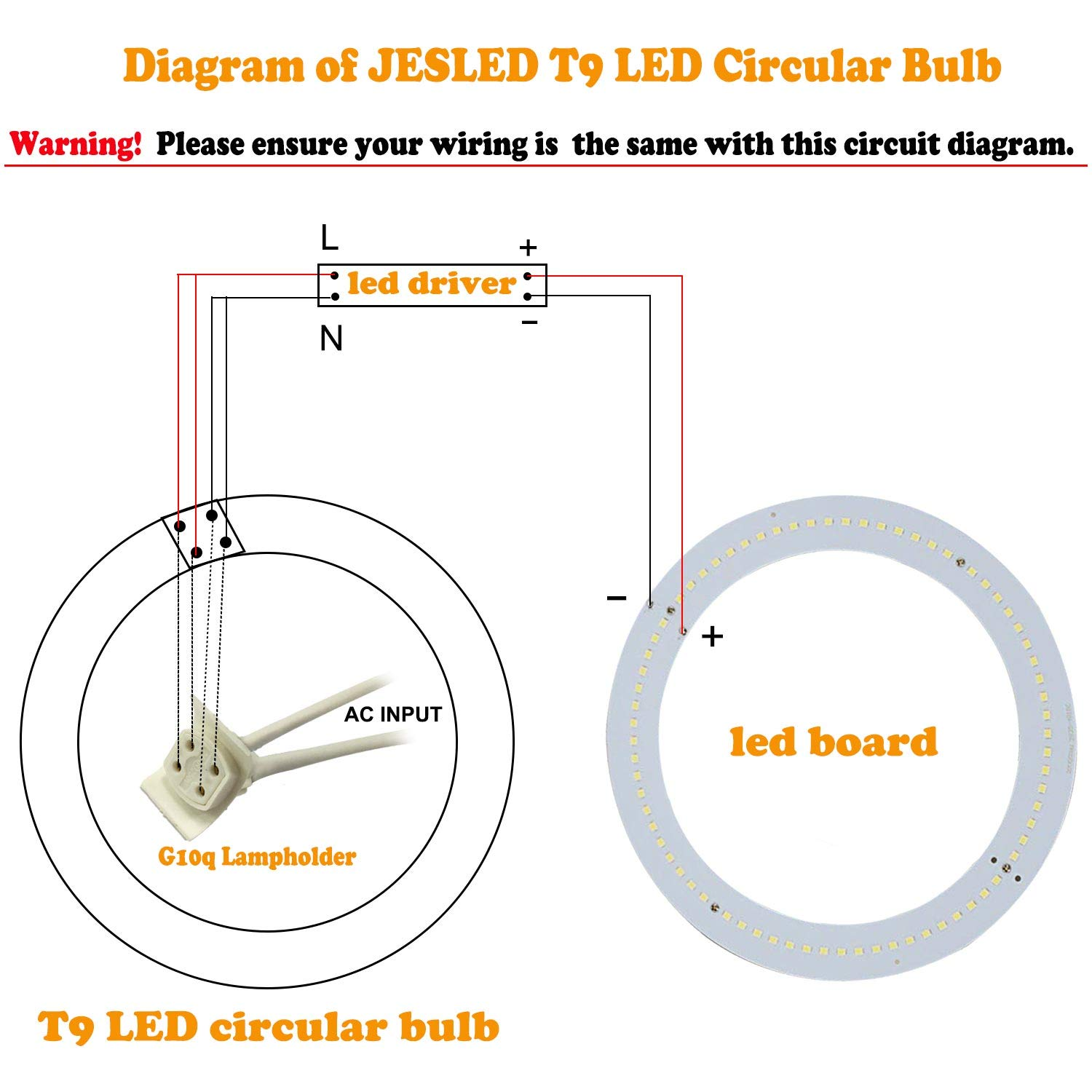 T9 Wiring Diagram Libraries Light Bulb Uk 12 Inch Circline 16w Led Daylight 6000k Replacement12