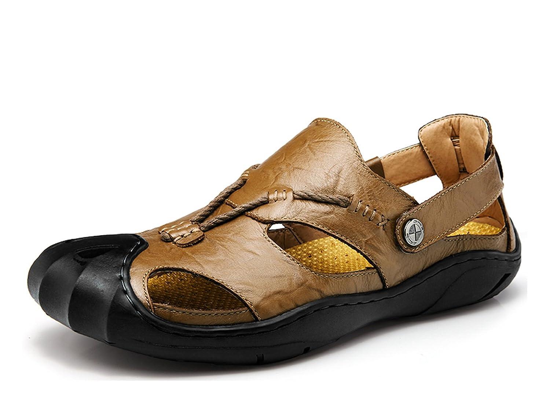 Miyoopark UK-XCR7301 - Sandalias de Vestir de Material Sintético Para Hombre 43 EU|caqui