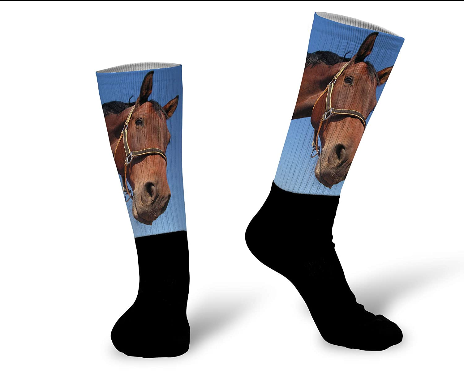 Photo Socks Crew Height and Athletic Fit