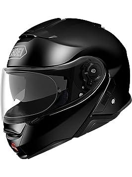 Shoei Casco Convertible Moto Neotec 2 Plain Negro (S, Negro)