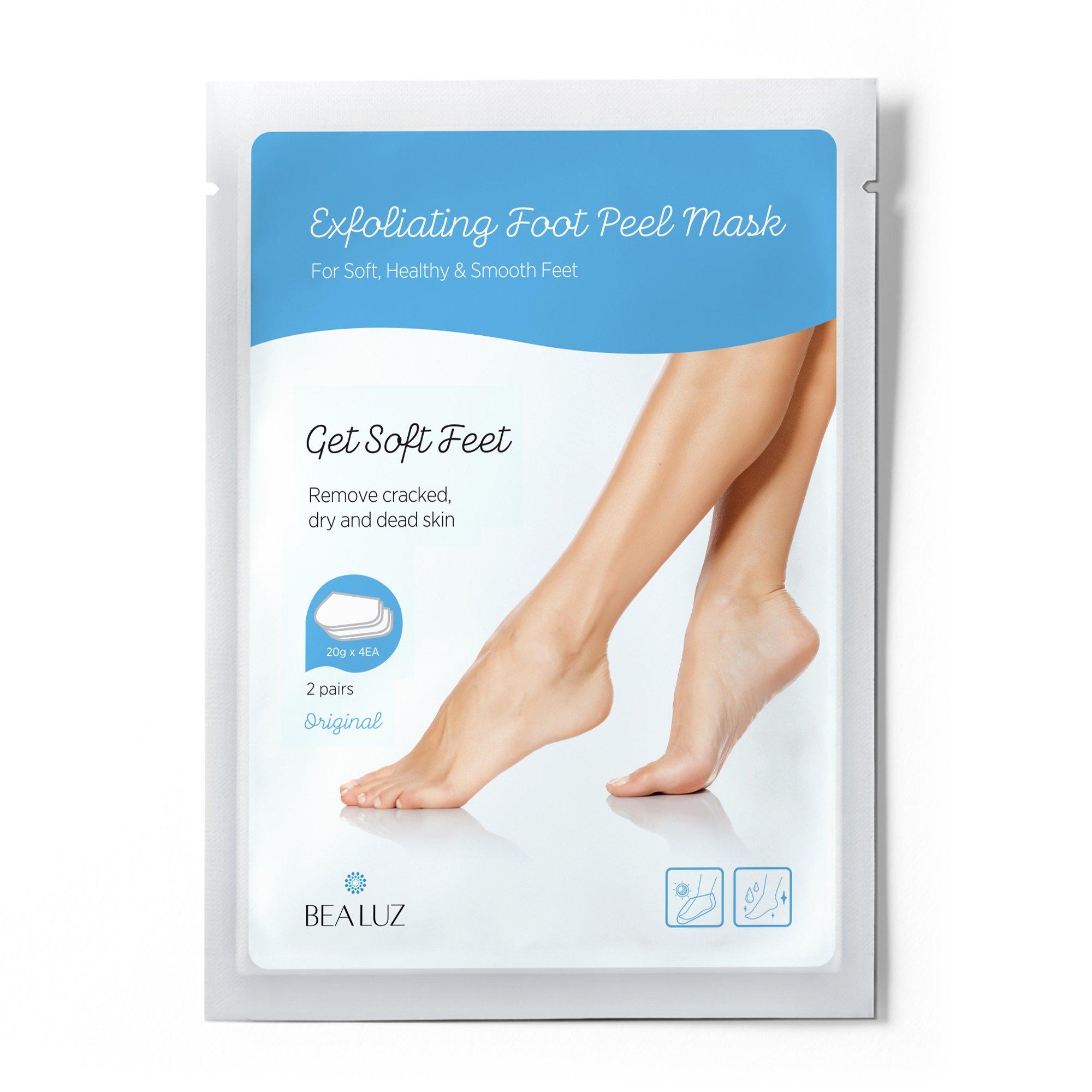 2 Pairs Exfoliating Foot Peel Mask, Soft & Smooth Feet, Peeling Away Rough Dead Skin & Calluses in 1-2 Weeks, Repairing Exfoliant by BEALUZ (Image #2)