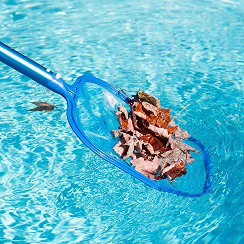 Waymeduo Swimming Pool Skimmer Leaf Net Nylon Micro-Mesh Skimmer Net Standard Pole for Removing Swimming Pool Leaves Debris Plastic Frame