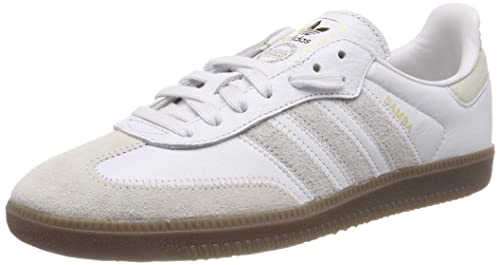 1cdc2f654 adidas Men's Samba Og Ft Gymnastics Shoes, Crystal Raw White/Gold Met, ...