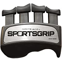 SPORTSGRIP Hand and Finger Exerciser (Hard - 7lbs / 3.2kg) - Best Ergonomic Finger Strengthener to Improve Grip for All Sport Athletes