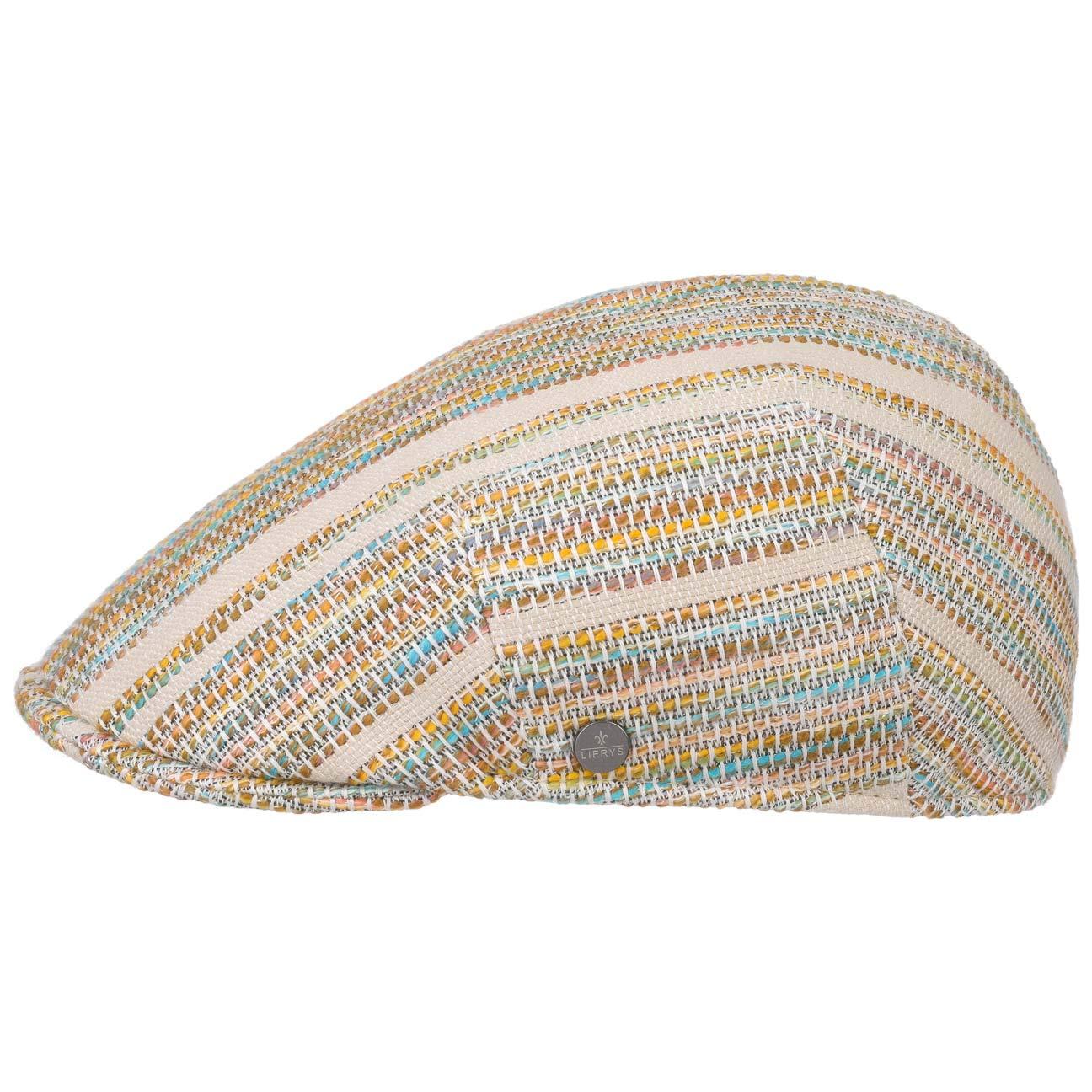 Lierys Colour Stripes Flat Cap Women/Men Mixed Colours 6 7/8