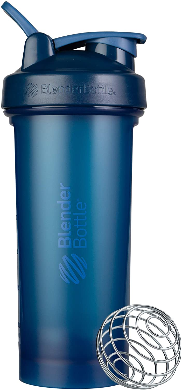 BlenderBottle Classic V2 Shaker Bottle, 28-Ounce, Navy