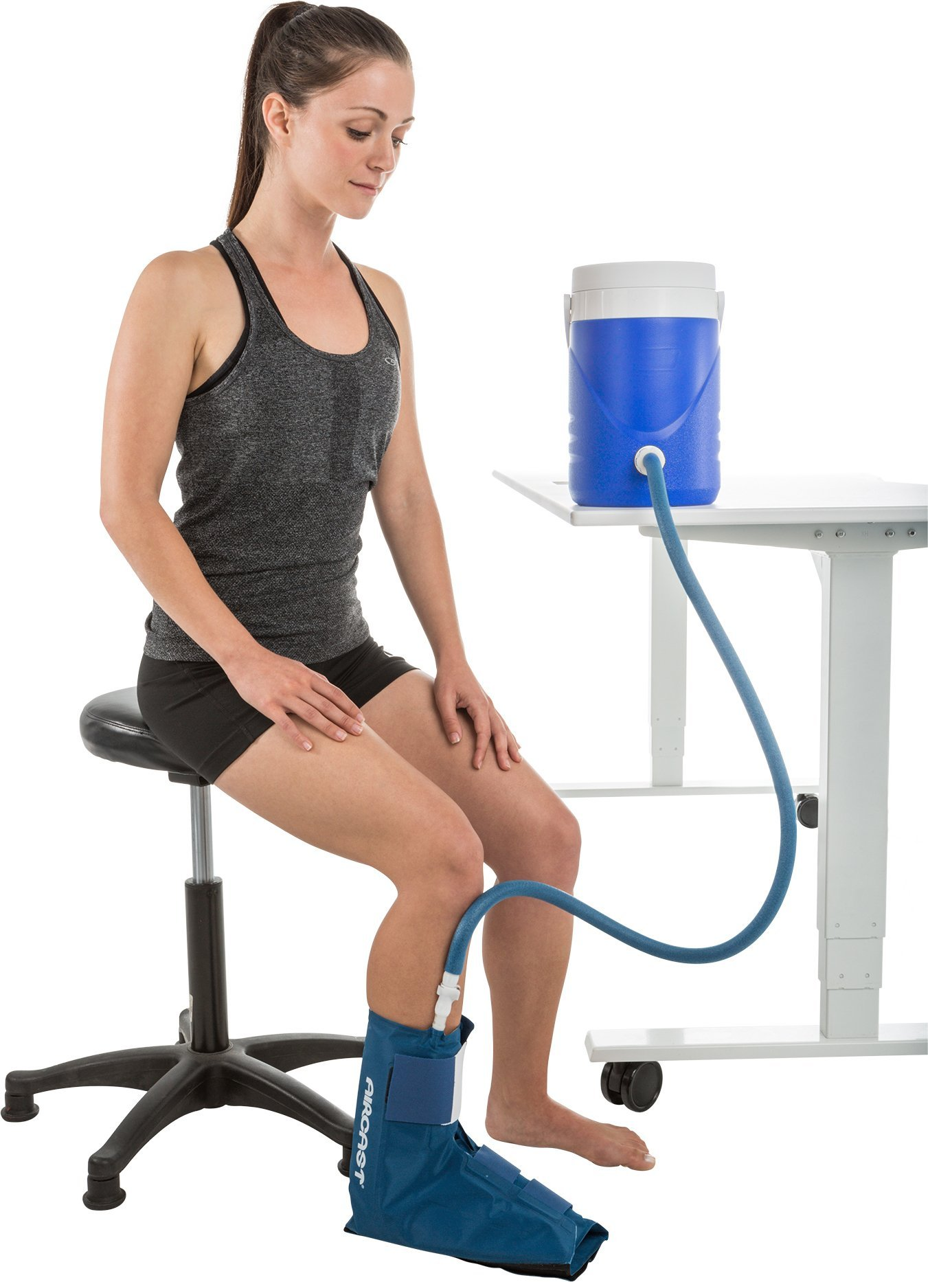 Aircast Cryo/Cuff Cold Therapy: Ankle Cryo/Cuff with Non-Motorized (Gravity-Fed) Cooler, One Size Fits Most by Aircast (Image #4)