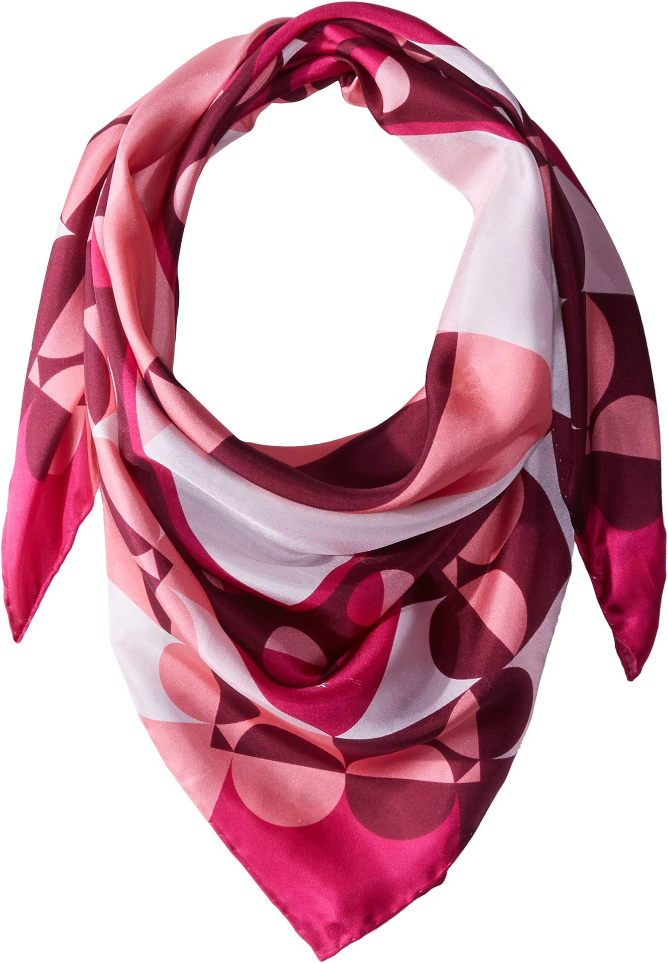 Kate Spade New York Women's Spade Border Silk Square Scarf Kinetic Pink One Size