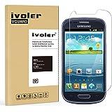 Samsung Galaxy S3 Mini Pellicola Protettiva, iVoler® Pellicola Protettiva in Vetro Temperato per Samsung Galaxy S3 Mini - Vetro con Durezza 9H, Spessore di 0,2 mm,Bordi Arrotondati da 2,5D-Shockproof, Trasparenza ad alta definizione, Facile da installare- Garanzia a vita