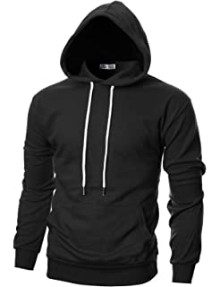 2986034a960 LBL ASALI Men's Casual Hoodies Solid Color Sports Pullover Soft ...