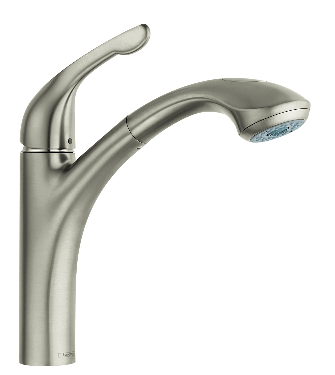 "Hansgrohe 04076860 Allegro E Single Hole, Low Arc 1.75GPM 2 Spray Kitchen Faucet 12.6"" Height Steel Optic"