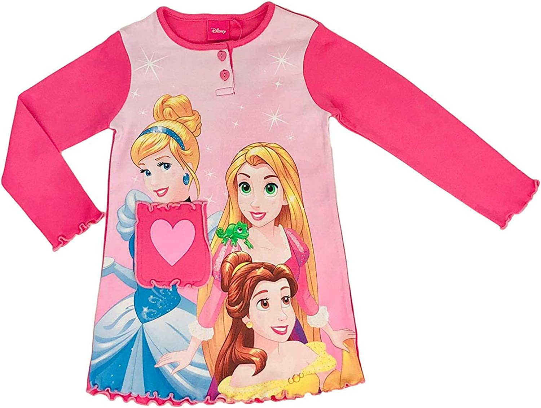 Maglietta Maniche Lunghe Bambina Ufficiale Disney Principesse Originale 1252