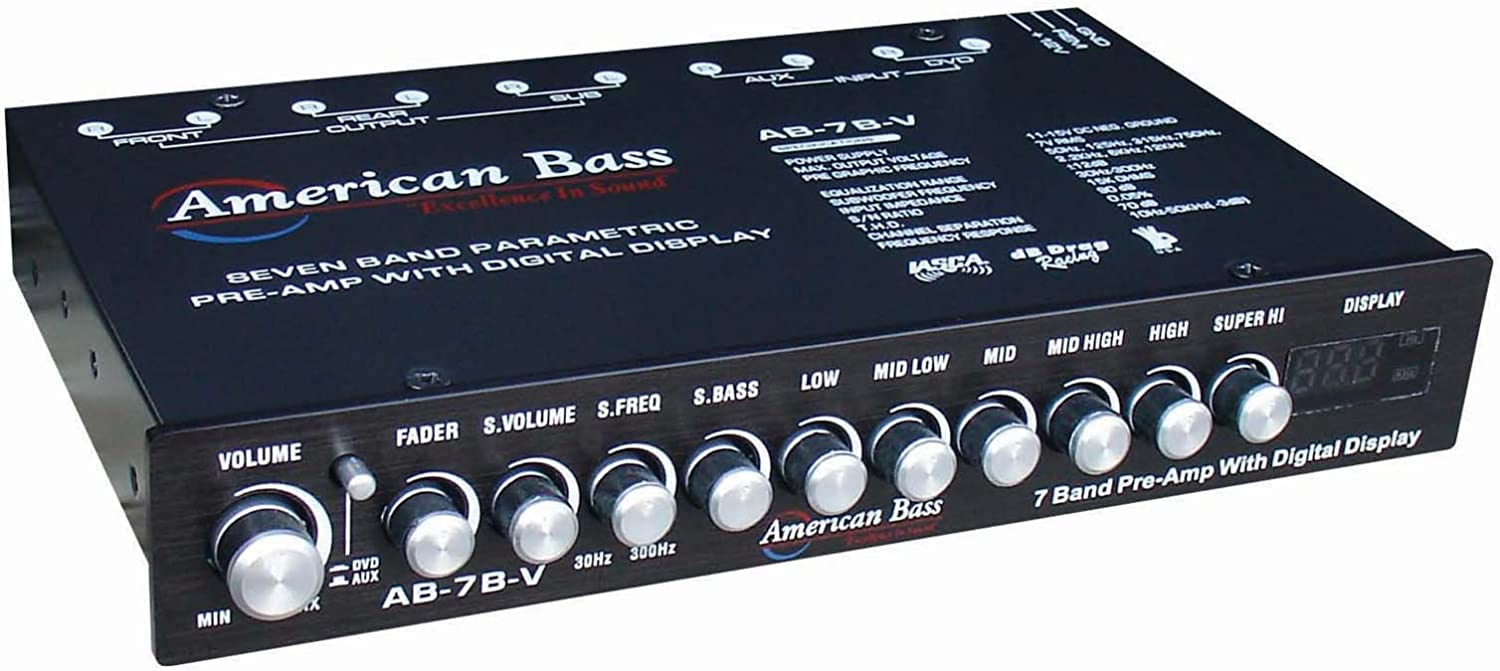 American Bass High End 7 Band Equalizer