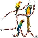 PUBAMALL Cuerda de pájaro, Juguete de pájaro de Puenting, para Loros, Ardillas, Perritos de la Pradera, Degus, titíes, Monos,