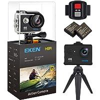 EKEN H9R Action Cam 4k Wifi Impermeabile Videocamera 170° Grandangolare Sport Action Camera subacquea con 2 1050mAh batteria Charging dock e Telecomando Tripod kit di montaggio(Nero)