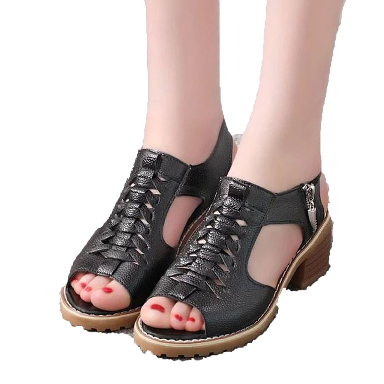 d1652042ddafd Amazon.com | Perfect-Sense-Show Vintage Elegant Mid Square Heel ...