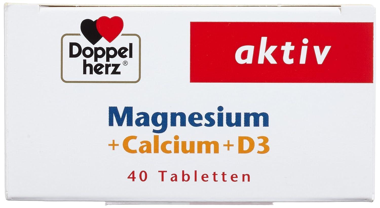 Doppelherz magnesio + calcio + D3, 40 comprimidos: Amazon.es: Salud y cuidado personal