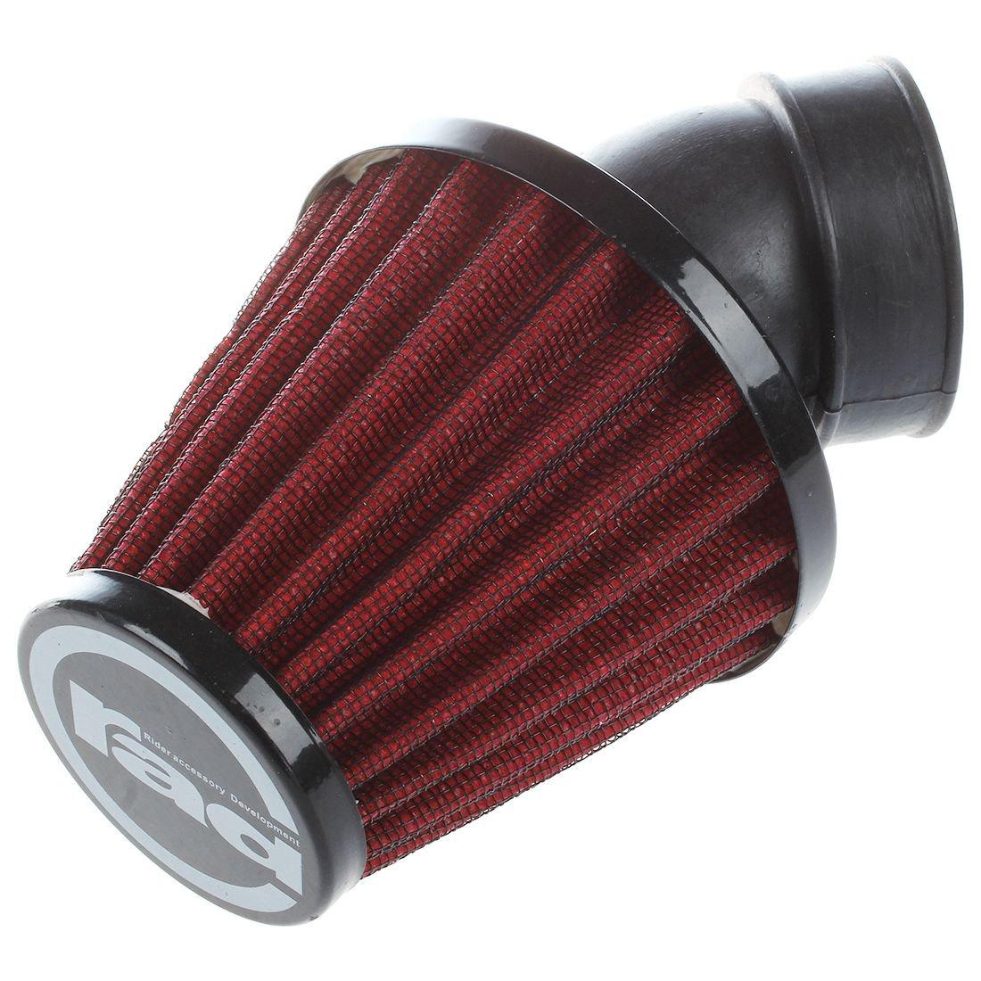 Mushroom Head Air Intake Filter Cleaner R SODIAL 38mm, Red