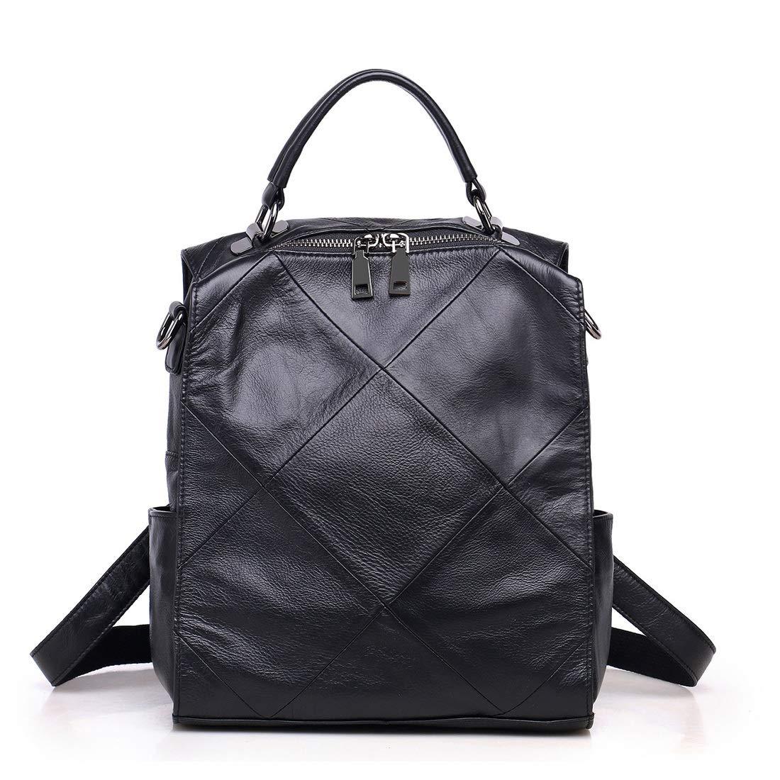 肌触りがいい DOUGHNUT 女性のバックパック財布3つの方法本革の女性のハンドバッグショルダーバッグ傾斜ショルダーバッグ 黒 (色 : 黒 コーヒー色) B07R6G62GR 黒 コーヒー色) 黒, 完売:6971170d --- cursos.paulsotomayor.net